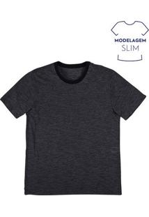 Camiseta Masculina Básica Fio A Fio Em Modelagem Slim