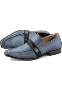 Sapato Social Perlatto Comfort Azul