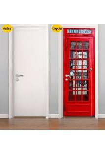 Adesivo De Porta Cabine Telefônica Londres (0,80M X 2,10M)