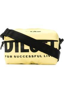 Diesel Bolsa Transversal Com Estampa De Logo - Amarelo