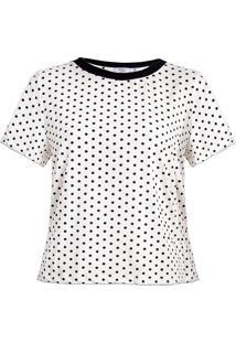 T-Shirt Karamello Poá Off White