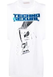 Christopher Kane Camiseta Com Estampa 'Techno Sexual' - Branco