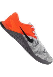 Tênis Nike Metcon 4 Xd - Masculino - Laranja/Cinza