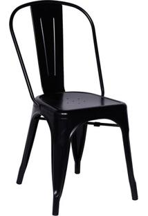 Cadeira Retro- Preta- 86X36X35,5Cm- Or Designor Design