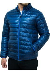 Jaqueta Kevingston Reversivel Marinho Azul Impermeável Com Bolsos Laterais Alto Inverno Campera