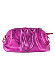 Bolsa Feminina Mayon 5217 Festa Couro Pink