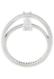 V Jewellery Anel 'Vice' - Metálico