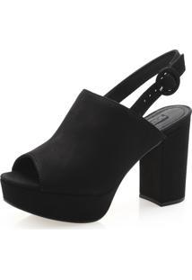 Sandália Feminina Corello Sandal Boot Meia Pata Couro Nobuck Corello Sandália Preto