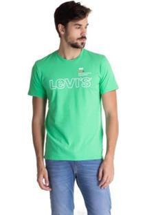 Camiseta Levis Set In Neck 2 Masculina - Masculino-Verde