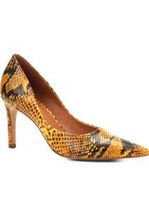 a4031ff5b3 ... Scarpin Couro Shoestock Salto Alto Cobra - Feminino-Amarelo