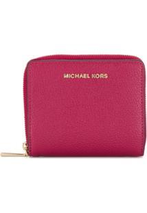 Michael Michael Kors Carteira Compacta Com Logo - Rosa