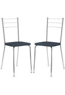 Cadeira 1703 Cromada 02 Unidades Jeans Carraro
