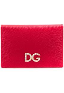 Dolce & Gabbana Carteira Com Aplicação De Logo - Vermelho