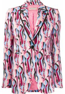 Emilio Pucci Blazer Com Estampa Geométrica - Colorido