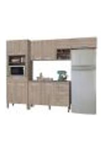 Cozinha Modulada Ametista 5 Módulos Composição 2 Nogal - Kit'S Paraná