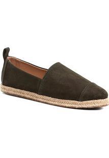 Espadrille Shoestock Camurça Feminina - Feminino-Verde