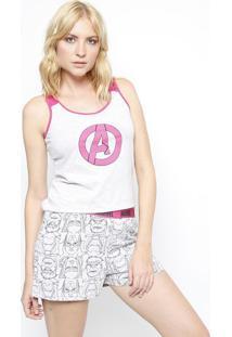 Short Doll Avengers®- Cinza & Pinkevanilda