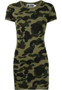 A Bathing Ape® Camouflage Bodycon T-Shirt Dress - Verde