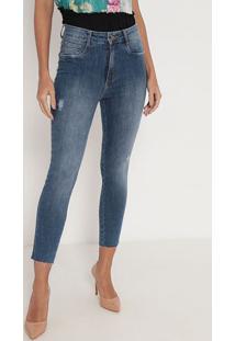 Jeans Super High Com Bolsos - Azul - Lança Perfumelança Perfume