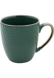 Caneca De Porcelana 400Ml - Bon Gourmet - Verde