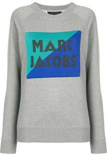 Marc Jacobs Blusa De Moletom Com Logo - Cinza