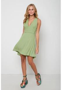Vestido Oh,Boy! Curto Ilhós Alpino Feminino - Feminino-Verde