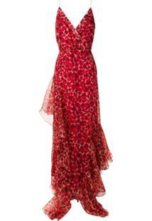 Isolda Vestido Longo 'Amabile' De Seda - Vermelho