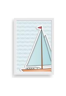 Quadro Love Decor Decorativo Infantil Barco A Vela Branco