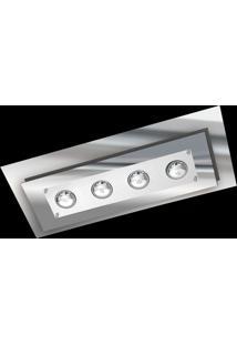 Plafon Saturno Aluminio E Vidro Pmr 138 Escovado Espelhado Bivolt