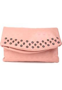 Bolsa Carteira Real Arte Caveiras Rosa