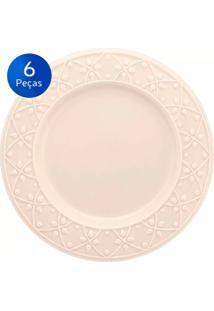 Conjunto De Pratos Rasos 6 Peças Mendi Marfim - Oxford - Off White