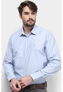 Camisa Aleatory Slim Fit Masculina - Masculino-Azul