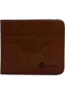 Carteira Porta Cartão Key Design - Wallet Card Holder - Caramel - Masculino