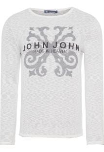 Blusa Masculina Tricot Joey - Branco