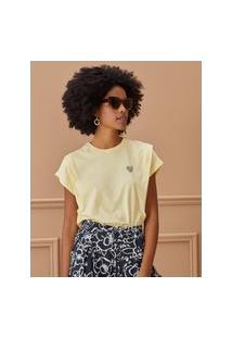 Amaro Feminino T-Shirt As Respostas Estão Dentro De Você, Amarelo