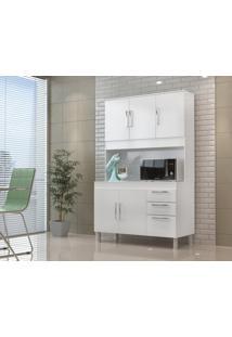 Cozinha Compacta Gemeos 1,14M 5 Portas 3 Gav. Branco Branco - Branco - Dafiti