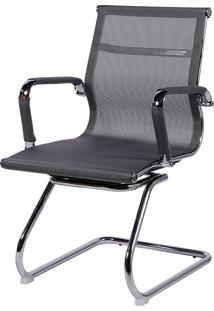 Cadeira Office Eames Tela Fixa Giratória Or-3303 – Or Design - Cinza