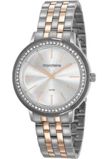 Relógio Mondaine 40Mm Aço Feminino - Feminino-Prata