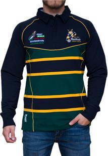 Blusa Kevingston Brown Rugby Verde Listrado
