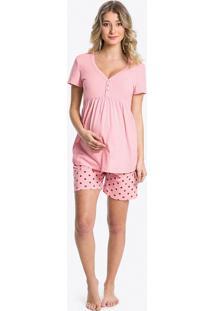 Pijama Curto Maternidade