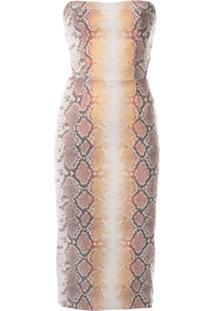 Manning Cartell Vestido Efeito Pele De Cobra - Estampado