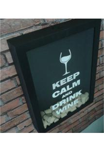 Quadro Porta Tampas Drink Wine Grande/Largo Bar Light
