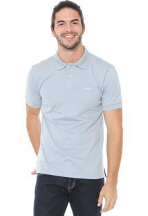 Camisa Polo Wrangler Reta Lisa Azul