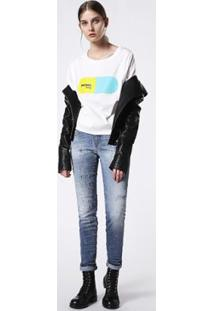 Camiseta Diesel T-Hanna-Ba Maglietta Feminina - Feminino-Branco