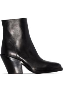 Ann Demeulemeester Ankle Boot Clássica - Preto