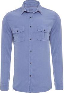 Camisa Masculina Trip Manga Longa - Azul
