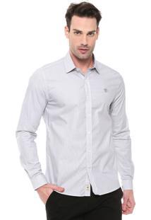 Camisa Timberland Reta Stripes Branca/Preta