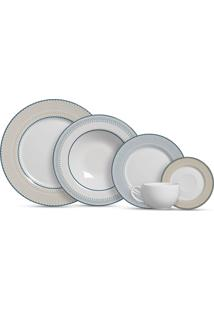 Aparelho De Jantar 20 Peças Renda - Alleanza - Branco / Azul