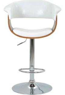 Banqueta Betim Courissimo Branco Base Disco - 30397 - Sun House
