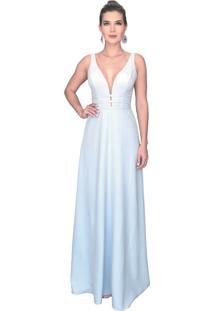 Vestido de festa iza d azul marinho
